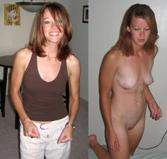 My wife dressed then nude