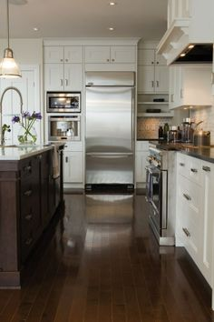 Walk your way into Stainless Steel #Kitchen.   www.remodelworks.com/