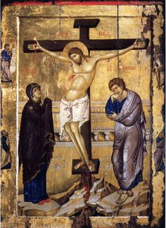The Crucifixion of Christ ( source ) The Lord accomplished our salvation by His death on the Cross: on the Cross He tore up th. Images Of Christ, Religious Images, Religious Icons, Religious Art, Byzantine Art, Byzantine Icons, Crucifixion Of Jesus, Christian Artwork, Jesus Christus