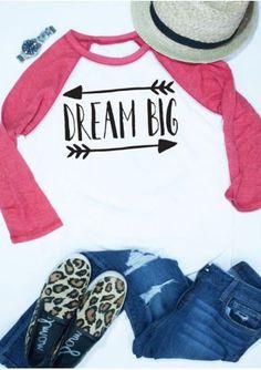 dce62bea Graphic Tees, Graphic Sweatshirt, T Shirt, Baseball Tees For Women, Dream  Big