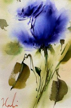 100% Original Signed Watercolor Flower Roses от LuxeArtistique