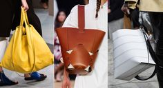 Absolutely love the center hobo bag. DIY with Threadhead TV. ~The Top 7 Bag Trends of Spring 2016 - EASY HOBOS  - from InStyle.com