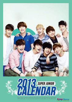 Superjunior Wall Calendar 2013(A3 Size)