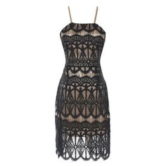 Black Eyelash Lace Dress (36 CAD) ❤ liked on Polyvore featuring dresses, sexy cocktail dresses, little black dress, lbd dress, sexy little black dress and black cocktail dresses