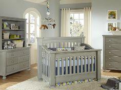 Baby Nursery, Grey And Blue Crib Bedding By Pine Creek On Baby's Dream Furniture Dresser