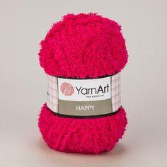 Pletací příze YarnArt HAPPY 775 sytě růžová, fantasy 100g/175m Winter Hats, Fantasy, Fantasy Books, Fantasia