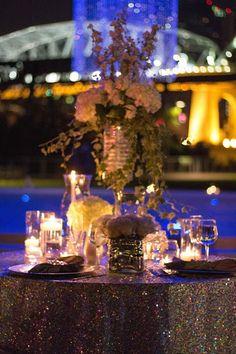 Wedding Sweetheart table, bling wedding, outdoor wedding, Paige Brown Designs NASHVILLE TENNESSEE WEDDING PLANNER