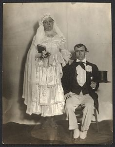 Citation: Robert Ament and Wood Gaylor in wedding attire for the Penguin Club's strawberry festival, 1918 / unidentified photographer. Wood and Adelaide Lawson Gaylor papers, Archives of American Art, Smithsonian Institution.