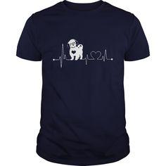 shih tzu love Funny dog heartbeat shih tzu love tshirt