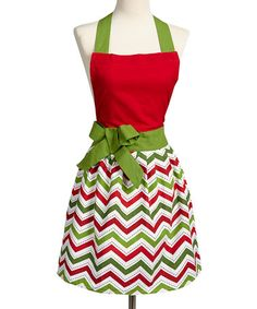 Take a look at this Holiday Zigzag Apron - Adult by Design Imports on #zulily today!