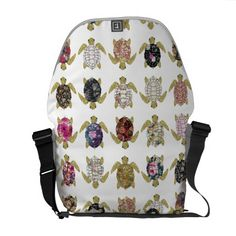 Whimsical turtles with girly floral retro pattern messenger bag. Oh em gee! Must have the whittle turtle bag! Turtle Love, Laptop Messenger Bags, Retro Pattern, Backpack Purse, Tote Handbags, Tote Bags, Beautiful Bags, Bag Accessories, Purses And Bags