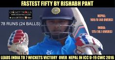 India registers easy win over Nepal with Rishabh's quick fifty (ICC U-19 CWC 2016) | Cricket Trolls -  Funny Cricket Trolls, Memes and News