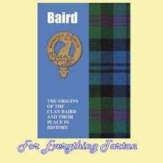 Baird Clan Tartan History Mini Book
