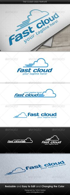 Fast Cloud  - Logo Design Template Vector #logotype Download it here: http://graphicriver.net/item/fast-cloud-logo-template/3504745?s_rank=634?ref=nesto
