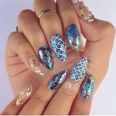 Summer nails #mermaid #nailart #nailswag