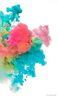 Jessica Kenyon's abstract ink art. 'Sherbet Dreams'