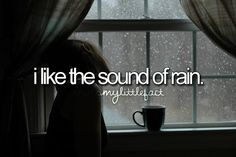 especially when it's tapping against the roof while you're snuggled up warm in bed. best feeling.