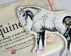 Equestrian Key Chain by Bravura on Etsy, $14.95