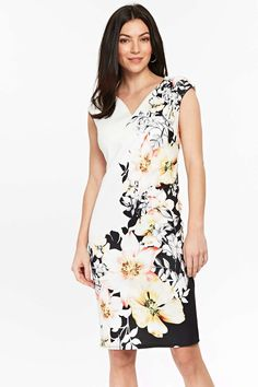 34f436486bcd Keep it classy and elegant in a monochrome floral shift dress, perfect for  keeping you