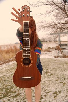 me and my uke - senior pictures, this is happening