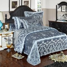Amounts and size Queen Size ( suitable for width bed) 1 piece Duvet Cover: 1 piece Bed 2 pieces King Size ( suitable for width bed) 1 piece Duvet Cover: 1 piece Bed Girls Bedding Sets, Cheap Bedding Sets, Queen Bedding Sets, Luxury Bedding Sets, King Size Bed Covers, Bed Duvet Covers, Duvet Cover Sets, Lace Bedding, Cotton Bedding