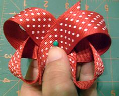 Free Boutique Hair Bow Instructions: hairbow free directions, hair bow business work at home