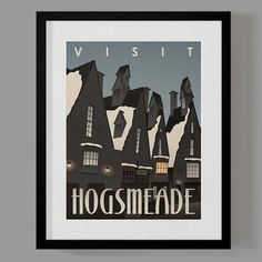 Harry Potter Travel Poster Set