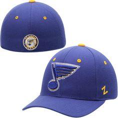 sale retailer db59f 0ad24 Mens St. Louis Blues Zephyr Royal Blue Crosscheck Fitted Hat
