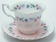 Royal Albert Pink Purple Flowers Gold Trim Tea by TheVintageFind1
