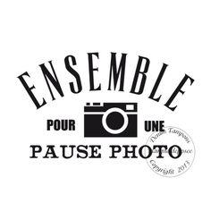 Texte : TAMPON ENSEMBLE par Sophie Etiquette Vintage, Photography Themes, Tampons, Digi Stamps, Silhouette Cameo, Photo Booth, Bullet Journal, Printables, Montages