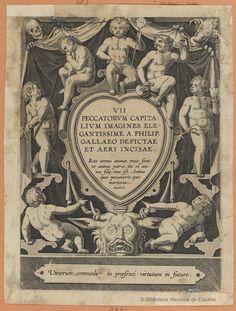 [Los pecados capitales]. Wierix, Hieronymus 1553-1619 — Grabado — 1570-1612?