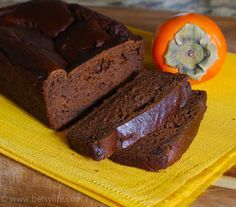 Persimmon Gingerbread With Brown Sugar, Butter, Hachiya, Molasses, Large Eggs, All-purpose Flour, Ground Ginger, Baking Soda, Ground Cinnamon, Salt, Ground Nutmeg, Ground Cloves, Boiling Water
