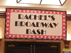 Broadway Themed Backdrop