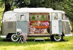 camper van from vintage VW Bus. Vw Camper Bus, Volkswagen Bus, Vw Caravan, Kombi Motorhome, Vw T1, Campervan, Vintage Caravans, Vintage Trailers, Wolkswagen Van