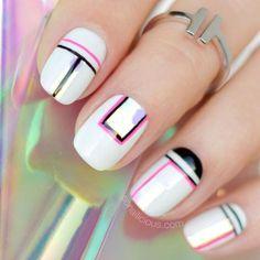 white-nails-designs-squoval-black-pink-l