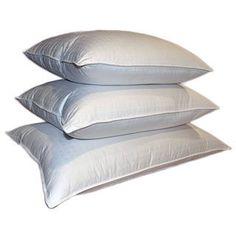 Swiss Damask 310 Thread Count 600 Fill Power White Down Pillow (Standard - Side Sleeper/Front Sleeper), Blue Ridge Home Fashions White Pillows, Soft Pillows, King Pillows, Comfortable Pillows, White King, Feather Pillows, Bedding Basics, Beds Online, Best Pillow
