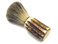 "Burrows and Hare Stag Horn Super Badger Bristle Shaving Brush: A Burrows & Hare exclusive product this Antler and Badger bristle shaving brush is ideal for the man who has everything.  This impressive shaving brush is designed for ease of use, with the handle being hand crafted from Scottish stag antler collected following the rutting season, the super badger brush head is made from ""farmed"" badger bristles."