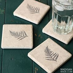 Looking for a quick and crafty handmade gift idea? Check out this tutorial for making your own amazingly simple decorated tile coasters!
