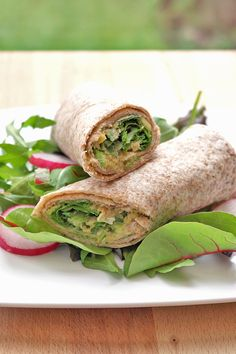 Smashed white bean, avocado & rocket wrap recipe ★★★★☆;  ★★★★★ after i've added some garlic and cilantro