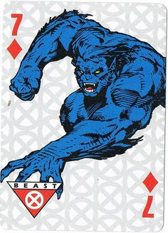 Jim Lee's Beast from the X-Men playing card set