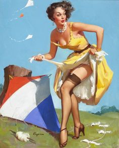 Gil Elvgren - The Final Touch (Keep 'Em Flying), 1954