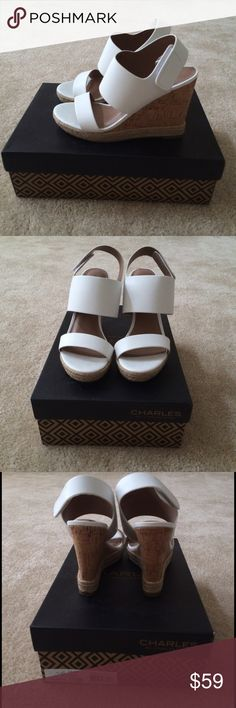 "CHARLES by Charles David ORIEL Wedge Sandal Worn only 3 times, in great condition! Leather sole, heel measures approximately 4.5"", platform measures approximately 1.00"", width: B(M). Please make offers I cannot resist! I am flexible in the price!  Charles David Shoes Wedges"