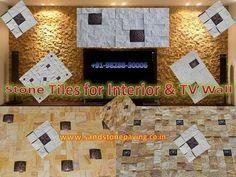 Stone Wall Cladding Mosaic Tiles with Brass Metal For Interior & TV Wall Stone wall tile for tv unit jai stone export jaipur Cheap Stone Wall Cladding Tiles .