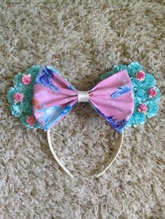 Your place to buy and sell all things handmade Mini Mouse Ears, Diy Mickey Mouse Ears, Disney Mickey Ears, Disney Diy, Disney Crafts, Cinderella Mice, Disney Headbands, Mouse Ears Headband, Diy Hair Accessories