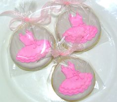 Handmade Custom Tutu Sugar Cookie Favors for by SweetRoseCookies