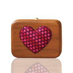 Got one on v-day !!!   Wooden clutches . The Box of Love . By Rachana Reddy. @Rachana Reddy