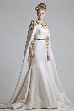 Vestido de noiva de deusa grega de Krikor Jabotian. #casamento #vestidodenoiva