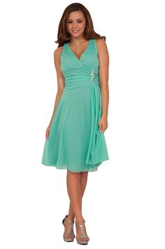 b807c828d0 Sleeveless V Neck Rhinestone Sheer Layer Evening Party Cocktail Dress S M L  (X-Large