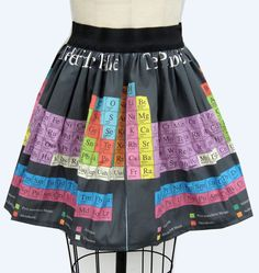 Periodic table skirt
