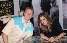 With Lisa Marie Presley
